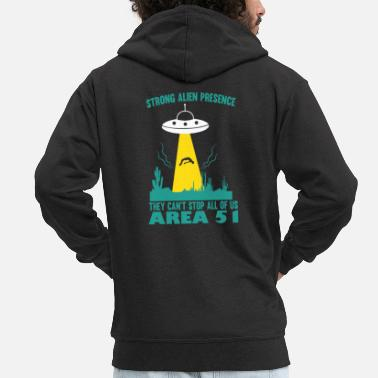 Prohibited Area 51 - They cant stop us all - Men's Premium Zip Hoodie