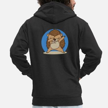 Födelsedag Cute Hedgehog Men Women Dad Girl Mom Gift för vuxna - Premium zip hoodie herr