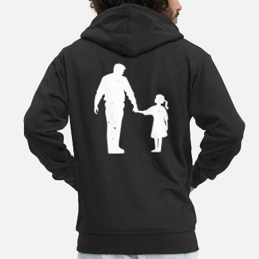 Idolatry Father Daddy Husband Dad Daddy Funny hero icon - Men's Premium Zip Hoodie