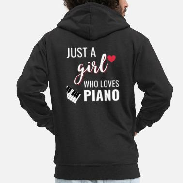 Kids Classic Piano shirt piano men women kids gift - Men's Premium Zip Hoodie