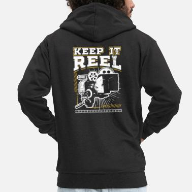 Glamour Grappig Keep It Real Filmmakers Film Lovers Gift - Mannen premium zip hoodie