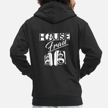 House Music House Woman House Music - Men's Premium Hooded Jacket