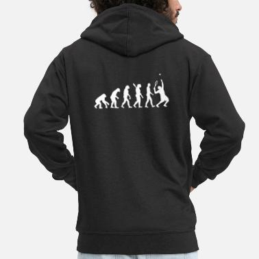 Evolution Evolution Tennis - Men's Premium Zip Hoodie