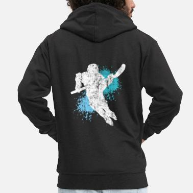 Port Ice Hockey Player Hockey Wintersport Present - Premium-Luvjacka herr