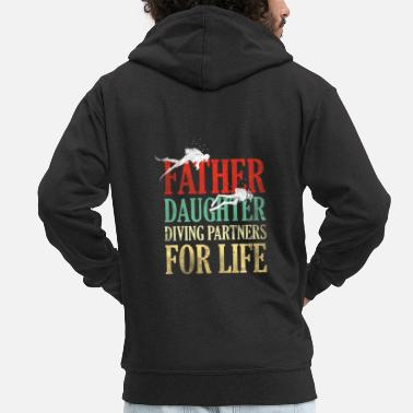 Swimmer Father Daughter Diving Partners For Life gift - Men's Premium Zip Hoodie