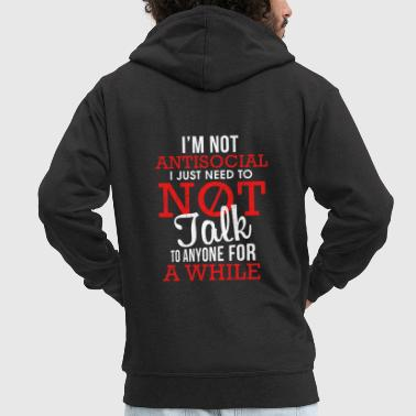 Introvert Gift Introvert Unsocial People - Men's Premium Hooded Jacket