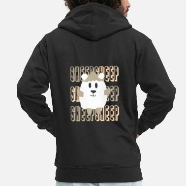 Sheep Sheep, sheep, sheep - Men's Premium Hooded Jacket