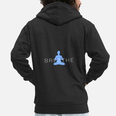 Eye Yoga breathing - Men's Premium Zip Hoodie