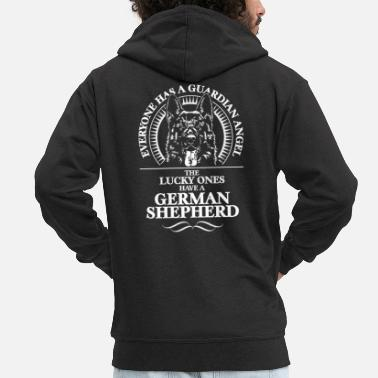 German Shepherd GERMAN SHEPHERD Guardian Angel - Men's Premium Zip Hoodie