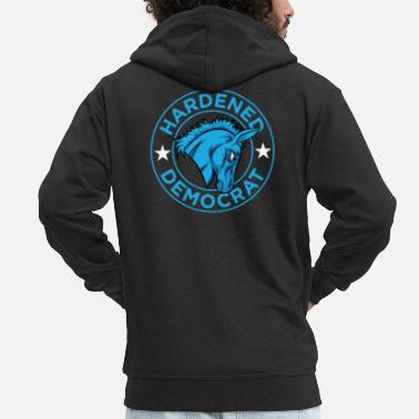 Democrat Democratic Politics - Hardened Democrat - Men's Premium Zip Hoodie