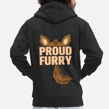 Furry proud furry - Men's Premium Zip Hoodie