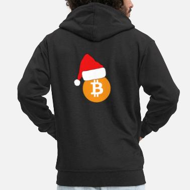 Cash Bitcoin BTC Crypto Christmas - Men's Premium Zip Hoodie