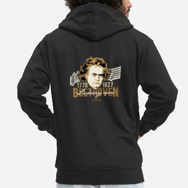 250th Birthday Beethoven 2020 design for the 250th birthday - Men's Premium Zip Hoodie