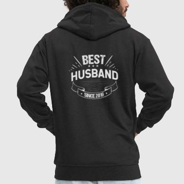 Since Second Wedding Anniversary Best Husband Since 2016 - Men's Premium Hooded Jacket