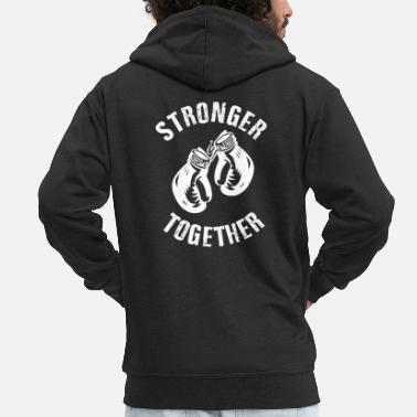 Stronger Stronger Together - Felpa con zip premium uomo