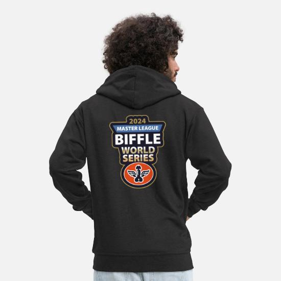 Love Hoodies & Sweatshirts - Biffle - Men's Premium Zip Hoodie black