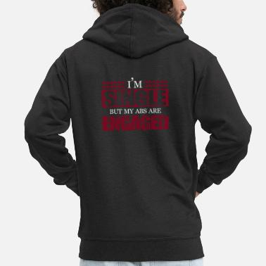 Single Single Bachelor Gift Single Dating Love Marriage - Mannen premium zip hoodie