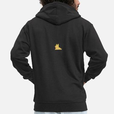 Officialbrands Dog Logo T-Shirt - Men's Premium Zip Hoodie