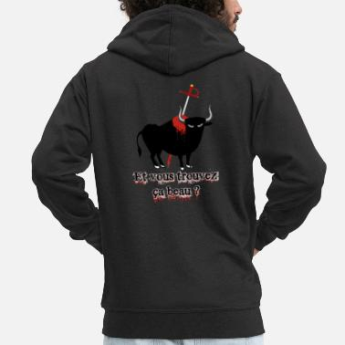 Bullfighting bullfight - Men's Premium Zip Hoodie