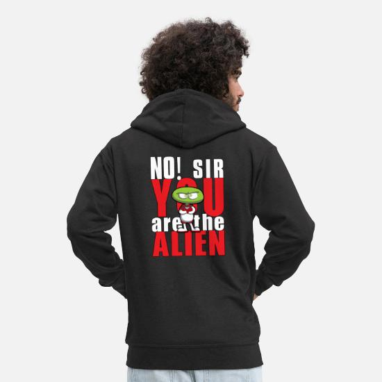 Scifi Hoodies & Sweatshirts - no, sir - Men's Premium Zip Hoodie black