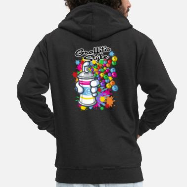 Graffiti Graffitis and carttoon - Men's Premium Zip Hoodie