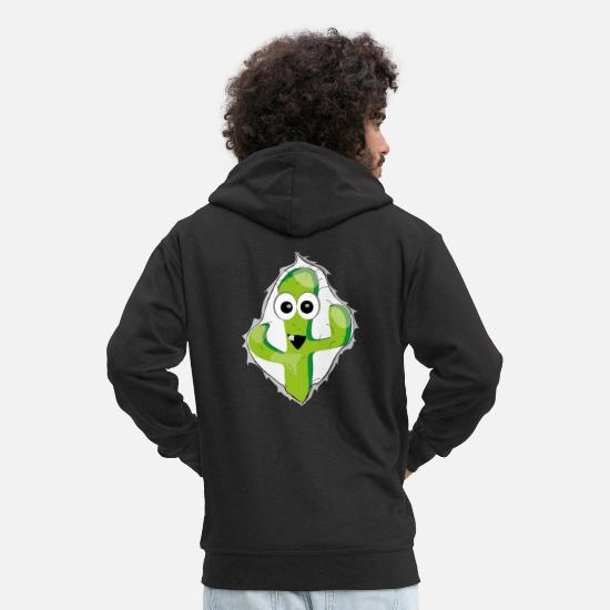 Gift Idea Hoodies & Sweatshirts - Comic cactus look comic - Men's Premium Zip Hoodie black