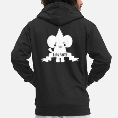 Keep Calm Elefant - elephant lets party - Männer Premium Kapuzenjacke