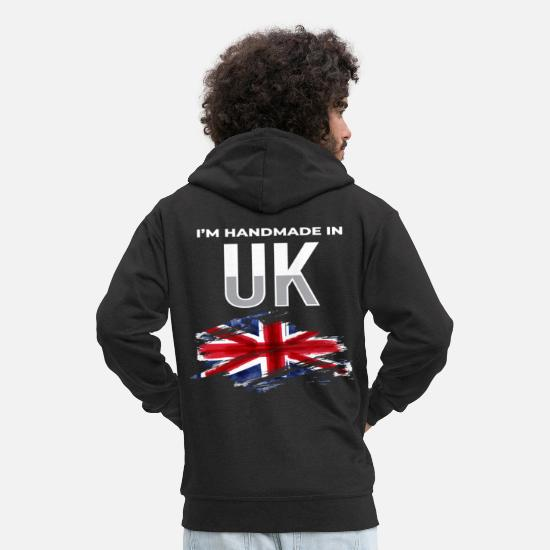 Travel Hoodies & Sweatshirts - I´m Handmade In UK United Kingdom England Tourist - Men's Premium Zip Hoodie black