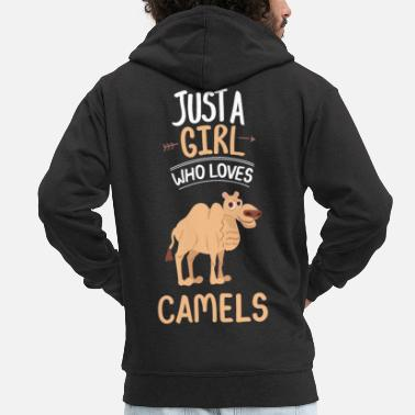 Dromedary Just A Girl Who Loves Camels Dromedary Gift Camel - Men's Premium Zip Hoodie