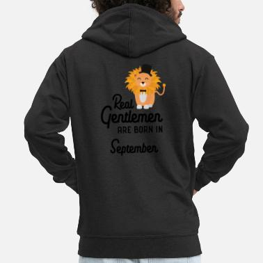 Born In September Real Gentlemen are born in September Smz9b - Men's Premium Zip Hoodie