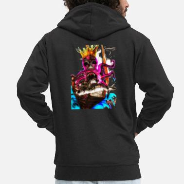 Graffiti Ravenous octopus - Men's Premium Zip Hoodie