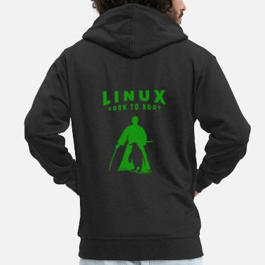 Linux Linux T-Shirt - Ideal as a gift. - Men's Premium Zip Hoodie