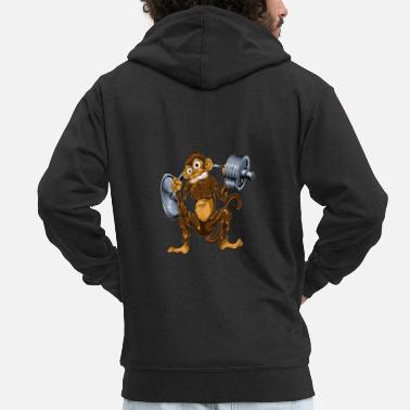 Monkeys Monkey squat - Men's Premium Zip Hoodie