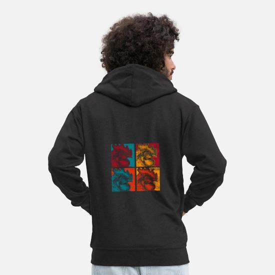 Gift Idea Hoodies & Sweatshirts - Chicken farmer village - Men's Premium Zip Hoodie black