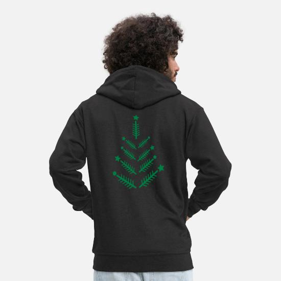 Christmas Hoodies & Sweatshirts - xmas tree c1 - Men's Premium Zip Hoodie black