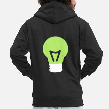 Light Bulb light bulb - Men's Premium Zip Hoodie