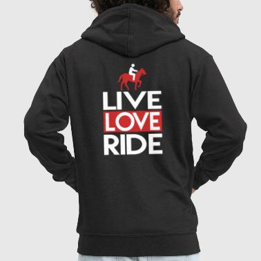 Live Love Ride Live Love Ride Horse Riding Club - Men's Premium Hooded Jacket