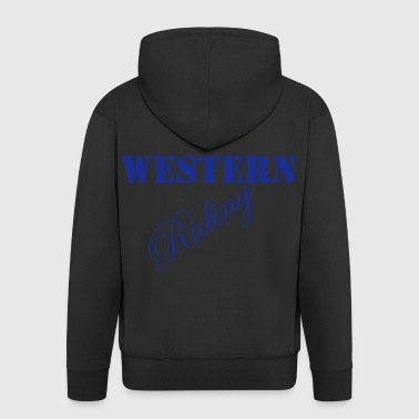 Western Riding - Men's Premium Hooded Jacket