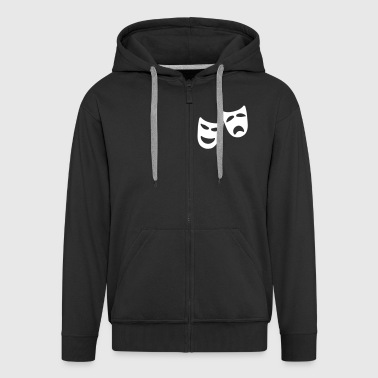 Tragedy and Comedy - Men's Premium Hooded Jacket