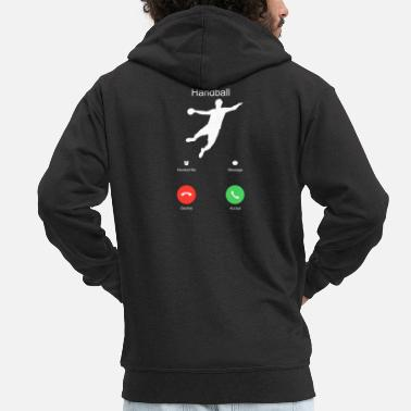 Handball Handball jump throw Sport Team Funny gift - Men's Premium Zip Hoodie