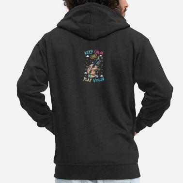 Fiddlestick Unicorn violin: keep calm and play the violin - Men's Premium Zip Hoodie