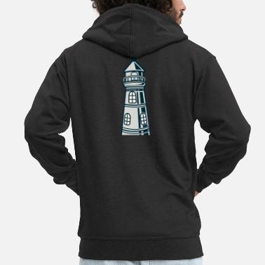 Crook Lighthouse crooked - Men's Premium Zip Hoodie