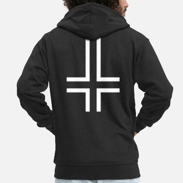 Duivel Antichrist, 666, Satan, Twisted Cross - Mannen premium zip hoodie