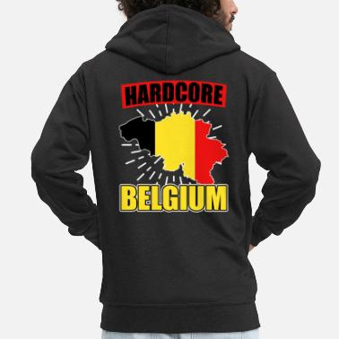 National Color Belgium nationality national colors - Men's Premium Zip Hoodie