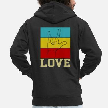 Hippie Movement Love hippie movement - Men's Premium Zip Hoodie