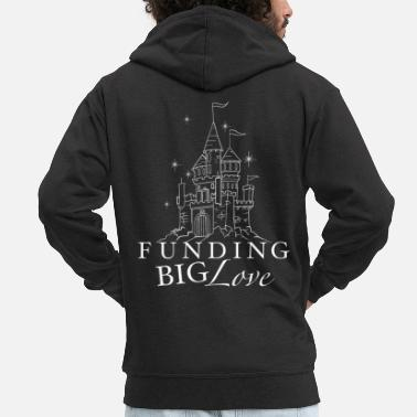 Funges FUNGING BIG LOVE princess castle - Men's Premium Zip Hoodie