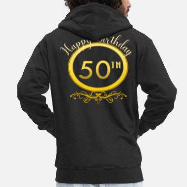 Birthday 50th birthday - Men's Premium Zip Hoodie