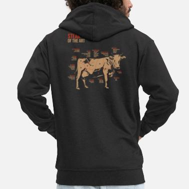 Bbq Steak Champ Winter BBQ Pitmaster - Mannen premium zip hoodie
