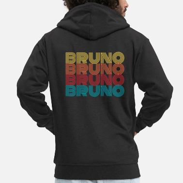 Name Day Bruno name name first name name day gift - Men's Premium Zip Hoodie
