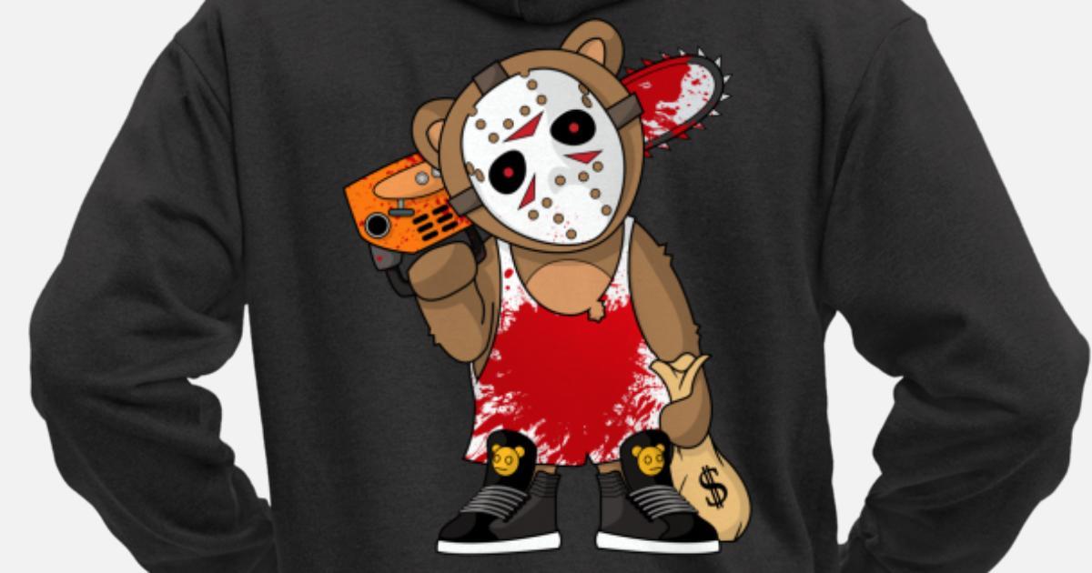 Killer Teddy Bear With Jason Mask Premium zip hoodie herr   Spreadshirt